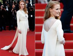 Jessica Chastain In Versace Collection - Cleopatra Cannes Film Festival Premiere