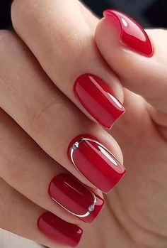 30 amazing natural summer square nails design for short nails - na . - 30 Amazing Natural Summer Square Nails Design for Short Nails – Nail Art Ideas – 30 Amazing Nat - Square Nail Designs, Red Nail Designs, Short Nail Designs, Acrylic Nail Designs, Fall Acrylic Nails, Fall Nails, Winter Nails, Short Red Nails, Short Nails Art