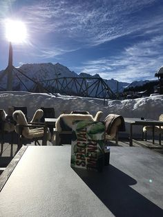 Review Valsana Hotel Arosa: Sonnenterrasse im Winter (Image by Hey Pretty)