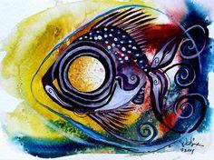 """WTFish 3816""  Fish Art  J. Vincent Scarpace, Artist  www.ipaintfish.com"