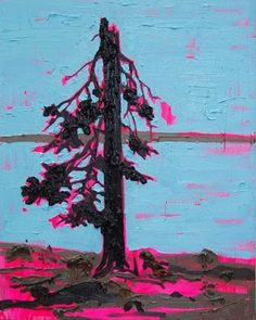 Kim Dorland-my final choice for costume inspiration, I love how subtle the bright neon color is as it peaks out from the vast black petrified tree.