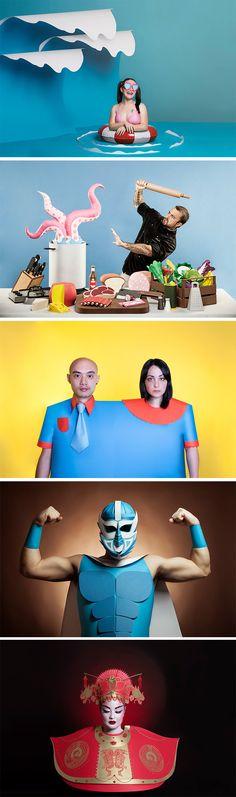 Click for more pics! | Quirky Paper Portraits by Set Designer Adriana Napolitano #paperart