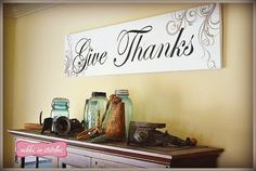 How To Make A Give Thanks Board :: by Nikki in Stitches