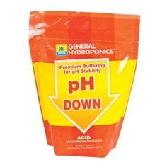 pH Down Dry - 2.2 lb by General Hydroponics. $14.16. Easier and safer to store. Dry powder dissolves in water easily. Concentrated powder goes a long way. Easily lower ph Levels in nutrient solutions. #N/A
