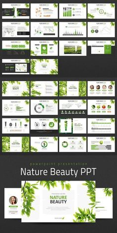 This Nature Beauty PPT is a presentation template designed based on naturalism cosmetics concept. Photo images related to nature such as leaves, petals and etc. Simple Powerpoint Templates, Powerpoint Slide Designs, Presentation Backgrounds, Presentation Layout, Ppt Design, Booklet Design, Design Layouts, Graphic Design, Name Card Design
