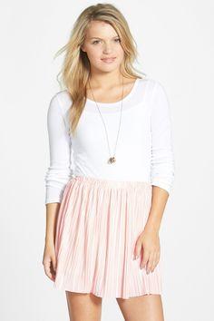 Pleated Miniskirt (Juniors) by Frenchi on @nordstrom_rack