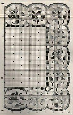 Filet crochet doily tablecloth