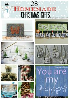 28  Homemade Gifts for friends and family!  #homemadegifts #Holidays #Christmas