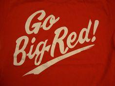 Vintage Nebraska Corn Huskers Go Big Red Sports College Cornhuskers T Shirt S | eBay