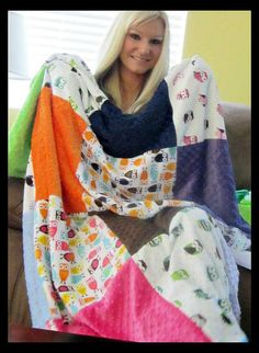 Custom your own MINKY OWL THROW blanket Several by RNBDesignz, $128.95