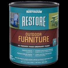 Refresh your weathered exterior wood furniture picnic tables playsets and more with Restore Outdoor Furniture. thicker than ordinary paint it fills hairline cracks with a smooth finish extending the life of your wood furniture. Pink Outdoor Furniture, Painting Outdoor Wood Furniture, Table Furniture, Painted Furniture, Pool Furniture, Retro Furniture, Refurbished Furniture, Furniture Stores, Luxury Furniture