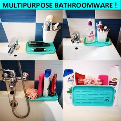Advantage&Benefits! – Nivafeel Kitchen Sink Organization, Sink Organizer, Sponge Holder, Benefit, Tray, Cleaning, Turquoise, Green Turquoise, Trays