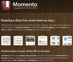 Momento      Documenting Your Life to Scrap Later « The Lilypad Blog