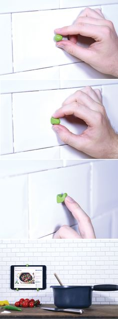 Make an iPad wall mount with Sugru! Easy DIY. (And it's removable!)
