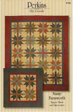 Primitive Folk Art Quilt Pattern  Nanny by PrimitiveQuilting, $9.00