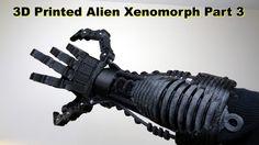 XRobots - 3D Printed Xenomorph Alien Cosplay PART 3 - Forearm printed in ABS & Ninjaflex rubber