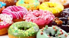 """You can't buy happiness but you can buy donuts, and that's kind of the same thing."" - Unknown Enjoy colorful bake on National Donut Day! Flash Facts, National Donut Day, Pastry And Bakery, Donut Shop, Eat Dessert First, Donut Recipes, Non Profit, Doughnut, Donuts"
