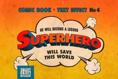 It's official. You're a superbeing! Your heroic actions will be splashed across headlines in styles as epic as the Vintage Comics Text Effects. With 10 text effects that were pulled from the previous century's comic industry, you can try on the role of an author and write your own headlines.