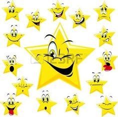 Sterne mit vielen Ausdr�cken photo