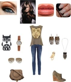 """""""owls!"""" by emilly101fasion ❤ liked on Polyvore"""
