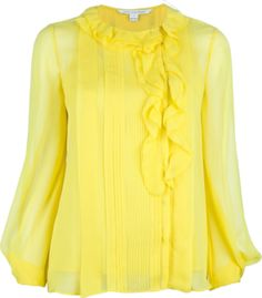 DIANE VON FURSTENBERG pleated blouse