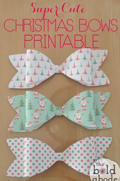 Grab these Super Cute Christmas Bows Printable and decorate your gifts with that fun, added Christmas touch!