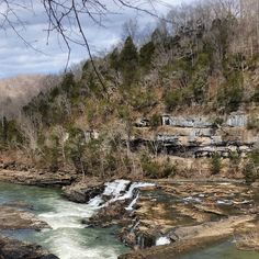 Waterfalls at Rock Island State Park in Tennessee taken March 2016