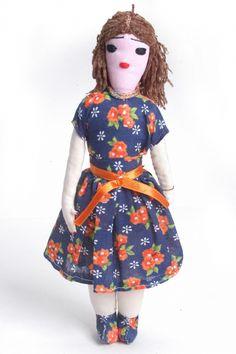 As bonecas Esperança são feitas de pano pelos moradores do Sítio do Riacho Fundo, na cidade de Esperança, Paraíba
