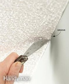 painting tip-Groove textured ceiling edges to create a path for your brush to follow