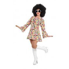 Disfraz hippie años 70 mujer - Comprar en Tienda Disfraces Bacanal. La mejor tienda de online de venta de disfraces: Baratos, excelente calidad, envío rápido.