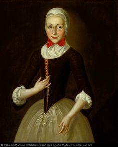 John Valentine Haidt Young Moravian Girl ca. 1755-1760 Smithsonian American Art Museum