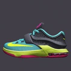 """KD7 """"Carnival"""" dropped in kids sizes today. What did you cop?  Show us your latest sneaker pick-ups with hashtag #SneakerNews"""