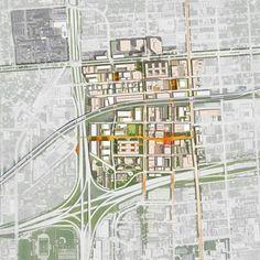 TechTown District Plan,site plan