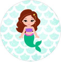 By Aline Gasda on ago 2018 K Little Mermaid Dresses, Little Mermaid Parties, The Little Mermaid, Mermaid Cartoon, Mermaid Clipart, Mermaid Cakes, Fiesta Party, Partys, Mermaid Birthday