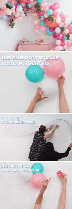 Floral Balloon Arch for Baby Shower Decorations Baby Shower Centerpieces, Baby Shower Favors, Baby Shower Themes, Baby Shower Gifts, Shower Ideas, Cheap Baby Shower Decorations, Fiesta Shower, Shower Party, Baby Shower Parties