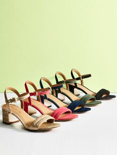 Brilliantly versatile and fashionable, our Mimi ankle-strap sandals are back with a new, double-strap front. | Talbots