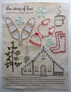 Into the Winter Woods Embroidery Pattern by thestoryofkat on Etsy