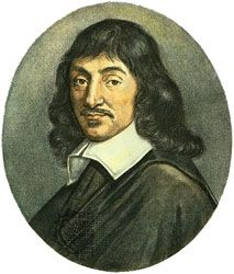 René Descartes (1596-1650) was een Franse filosoof en wiskundige. De ouders van Decartes waren rijk, maar niet van adel maar bourgeoisie. Volgens Descartes moest je om gebeurtenissen te verklaren kijken naar de oorzaak van de gebeurtenis en niet meteen naar het doel. Zijn cogito ergo sum (ik denk, dus ik ben) is het motto geworden van het zelfbewustzijn:de denkende en redenerende, maar ook aan alles twijfelende mens stelt zijn eigen ervaring.