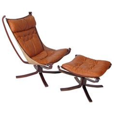 Sigurd Ressel Falcon Chair and Ottoman Target Outdoor Chairs, Habitat Furniture, Mid Century Leather Chair, Luxury Chairs, Lounge Chair Design, Cool Chairs, Awesome Chairs, Malang, Chair And Ottoman
