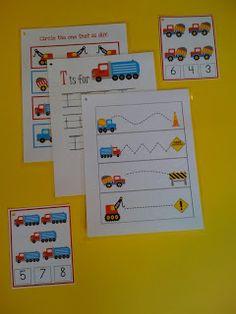 Construction Printables for #preschool boys