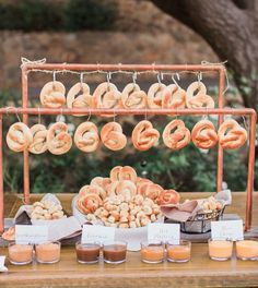 Wedding Food Pretzel bar idea for wedding reception food station - Treat guests to one of these awesome DIY food stations. Unique Wedding Food, Wedding Food Bars, Wedding Snacks, Wedding Food Stations, Wedding Catering, Unique Weddings, Trendy Wedding, Food For Weddings, Catering Food