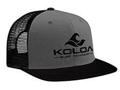 35f8fbb6947cd Amazon.com  Koloa Surf(tm) Mesh Back Wave Logo Trucker Hat in Black with  White Logo  Clothing