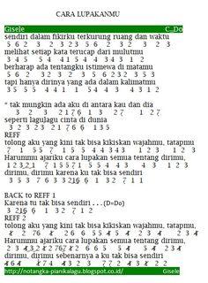 Chord Naik Delman : chord, delman, NOTASI, Lagu,, Musik,
