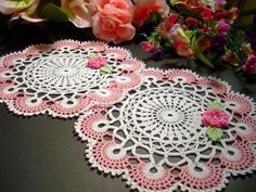 Toalhas de mesa de crochê