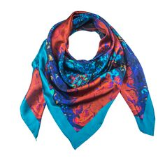 Corvus 1 - Silk Scarf - Celestial Collections – Silk and Stone