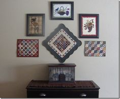 wall display of minis