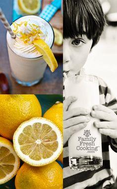 Lemonade Coconut Milkshake Recipe on FamilyFreshCooking.com photos © MarlaMeridith.com