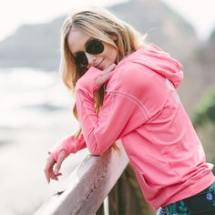 NEW! So comfy, cute and classic you'll crave it every day, our Signature So-Soft Hoodie is now in coral. | #albionfit