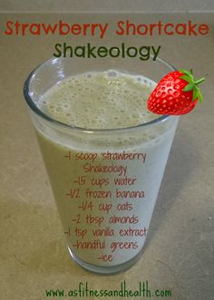 Try out this super delicious Strawberry Shortcake Shakeology recipe! It was so good that my toddler couldn't put it down! Fit mom and kid approved! http://www.thefitandfreemama.com/recipes.html