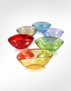 Yalos Murano Happy Fruit - 6 Colored Murano Glass Bowls | FORZIERI  #vspink